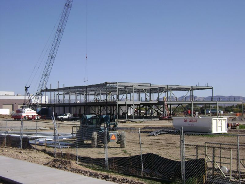 A construction site for a large building.